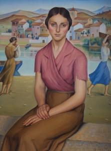 Mujer sentada, primer cuadro después de la guerra