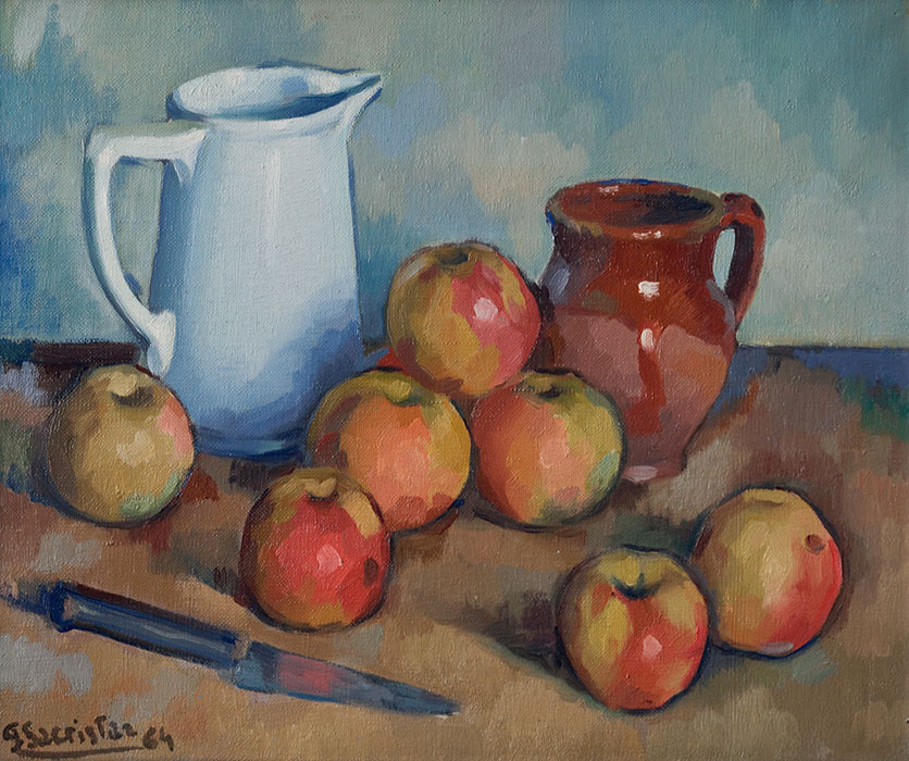 bodegon con manzanas