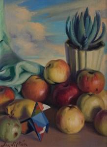 Bodegón con pajarita  óleo sobre lienzo, 1932