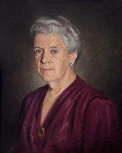 retrato de su madre