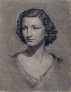 dibujo mujer de sacristan