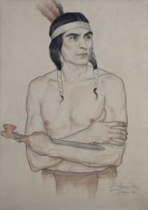 Dibujo Indio Americano