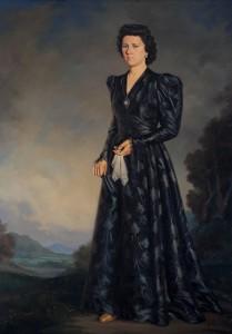 Retrato de Estrella Sacristán, hermana del pintor   Óleo sobre lienzo, 1954