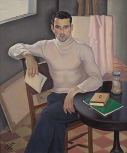 retrato hombre con libro